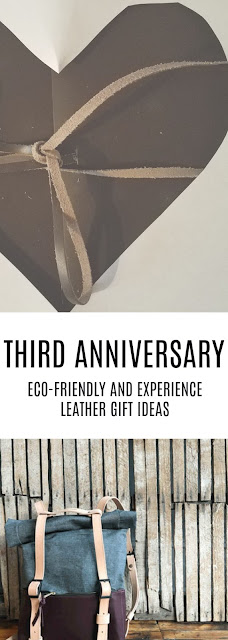third anniversary leather gifts heart