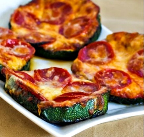 GRILLED ZUCCHINI PIZZA SLICES #delicious #diet