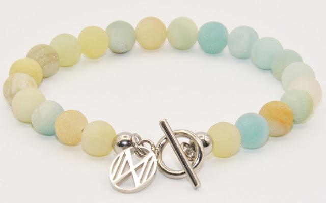 Dos por Dos Bracelet - pastel colours - gemstones