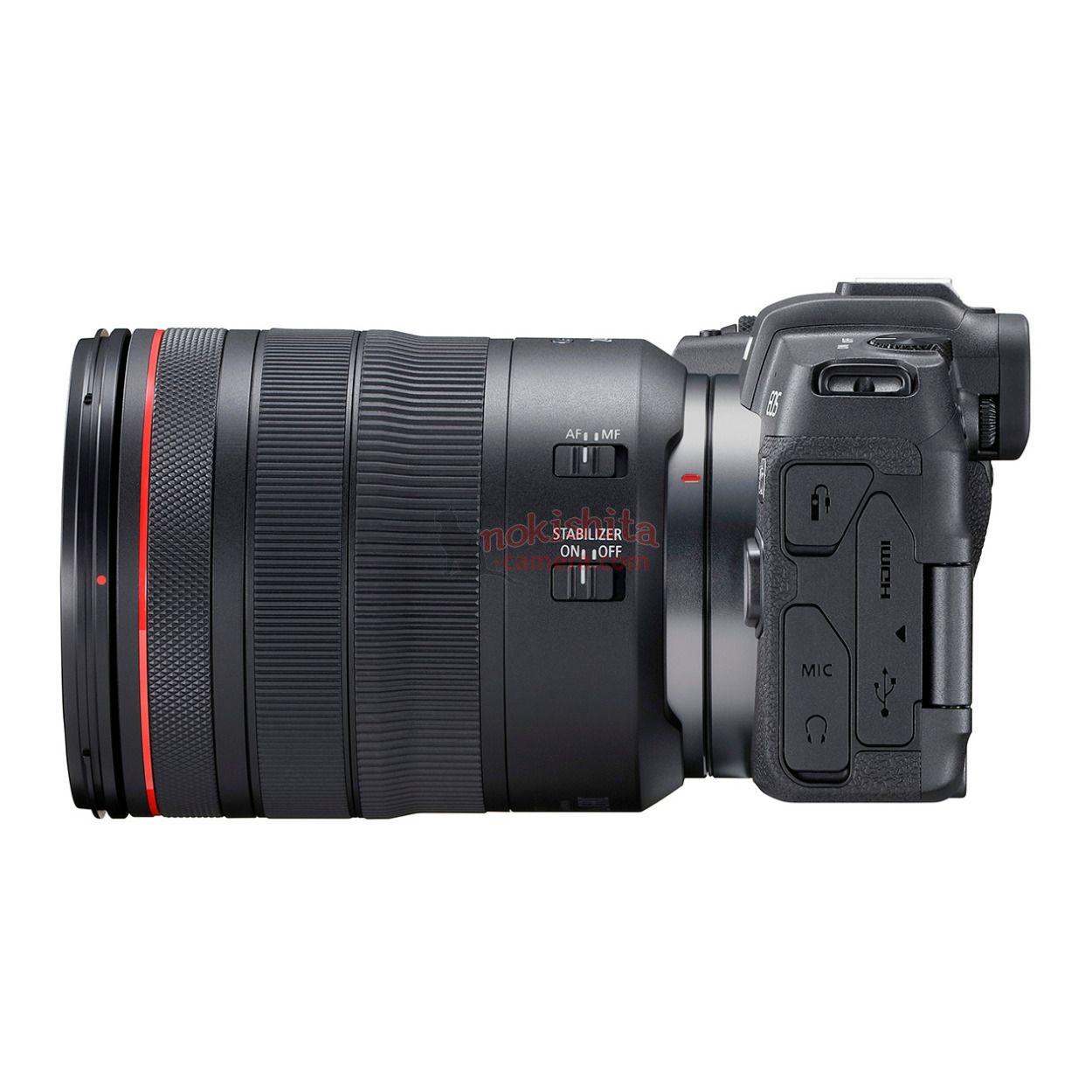 Canon EOS RP, вид сбоку