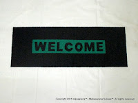 Cushion Mat Welcome 150cm x 55cm