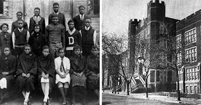 Black students at Dunbar High School in Washington, DC