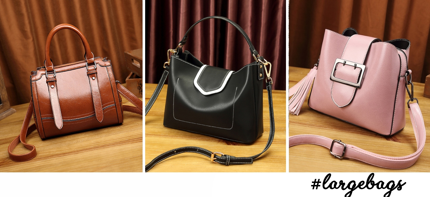 three trendy comfortable and large bags