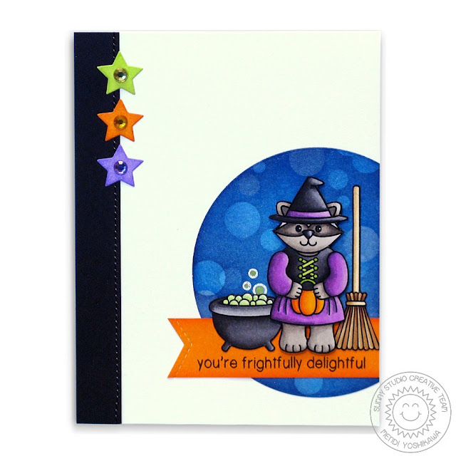 Sunny Studio Stamps: Halloween Cuties Witch Card by Mendi Yoshikawa