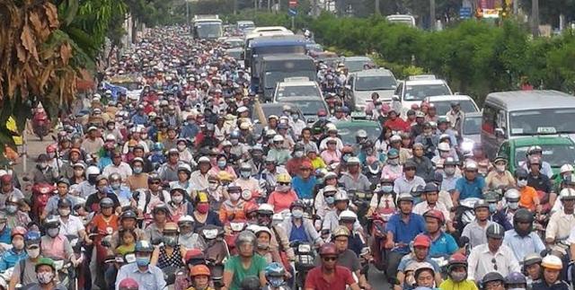 Kẹt xe Tân Sơn Nhất