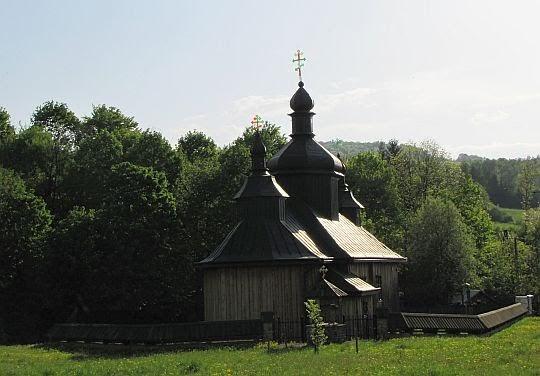 Cerkiew prawosławna pw. Świętych Kosmy i Damiana w Bartnem z 1928 roku.