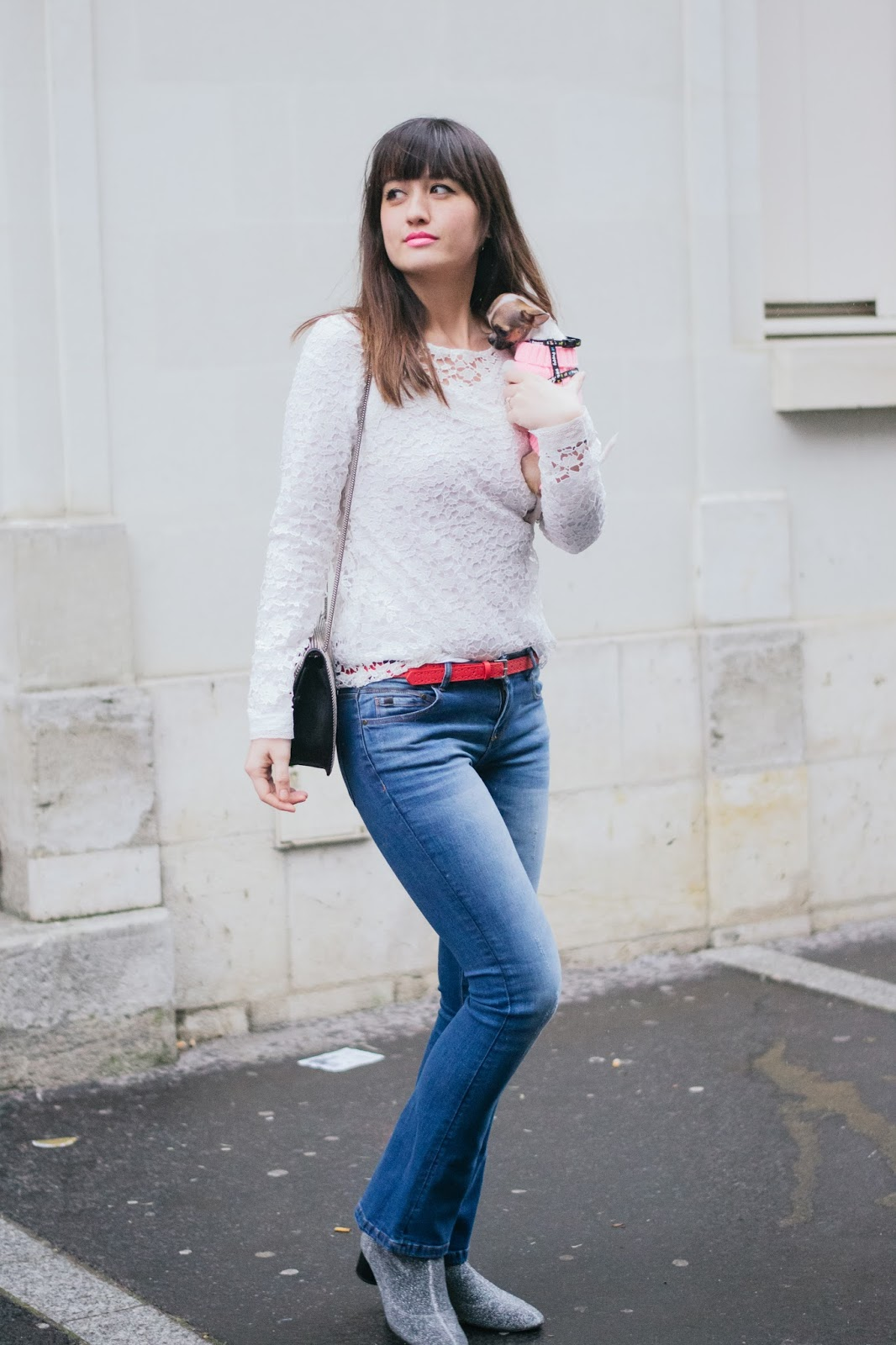 Parisian fashion blogger, style, look, mode, paris, promod, jeans, flared jeans