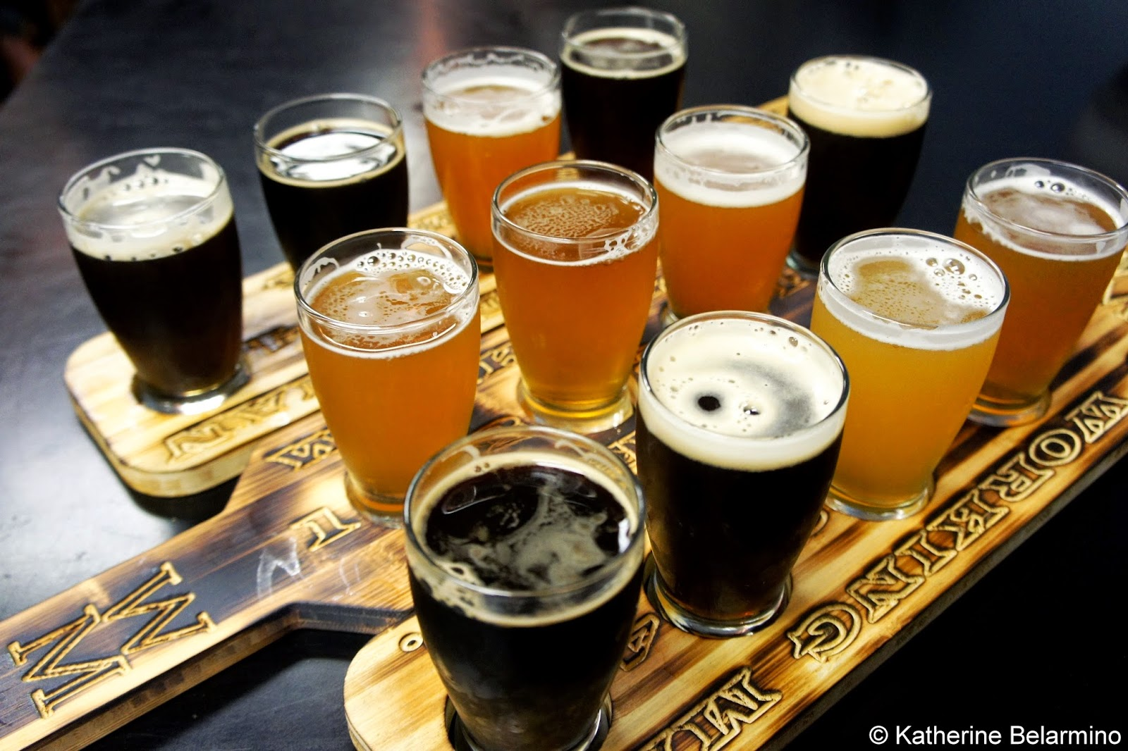 Working Man Brewing Company Beer Flights Tri-Valley Beer Trail
