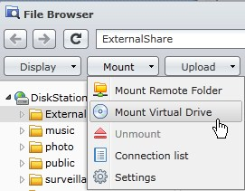 Mount remote folder synology