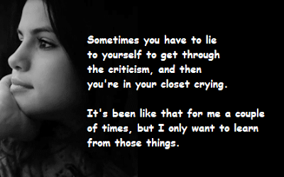 """Selena Gomez Quotes About Sometimes"""