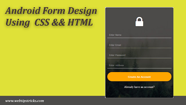 css form