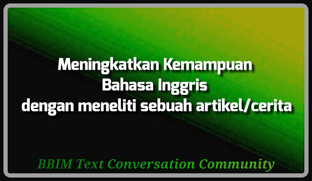 Meningkatkan kemampuan bahasa Inggris dengan membaca