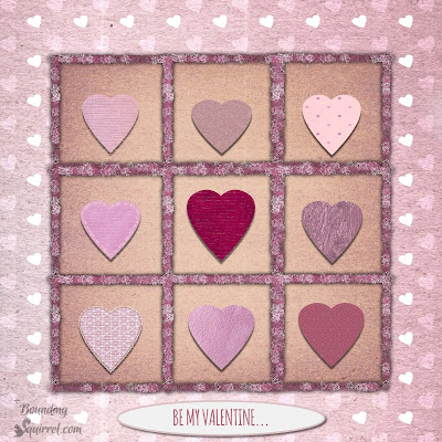 Valentine heart card grid design-kit available.
