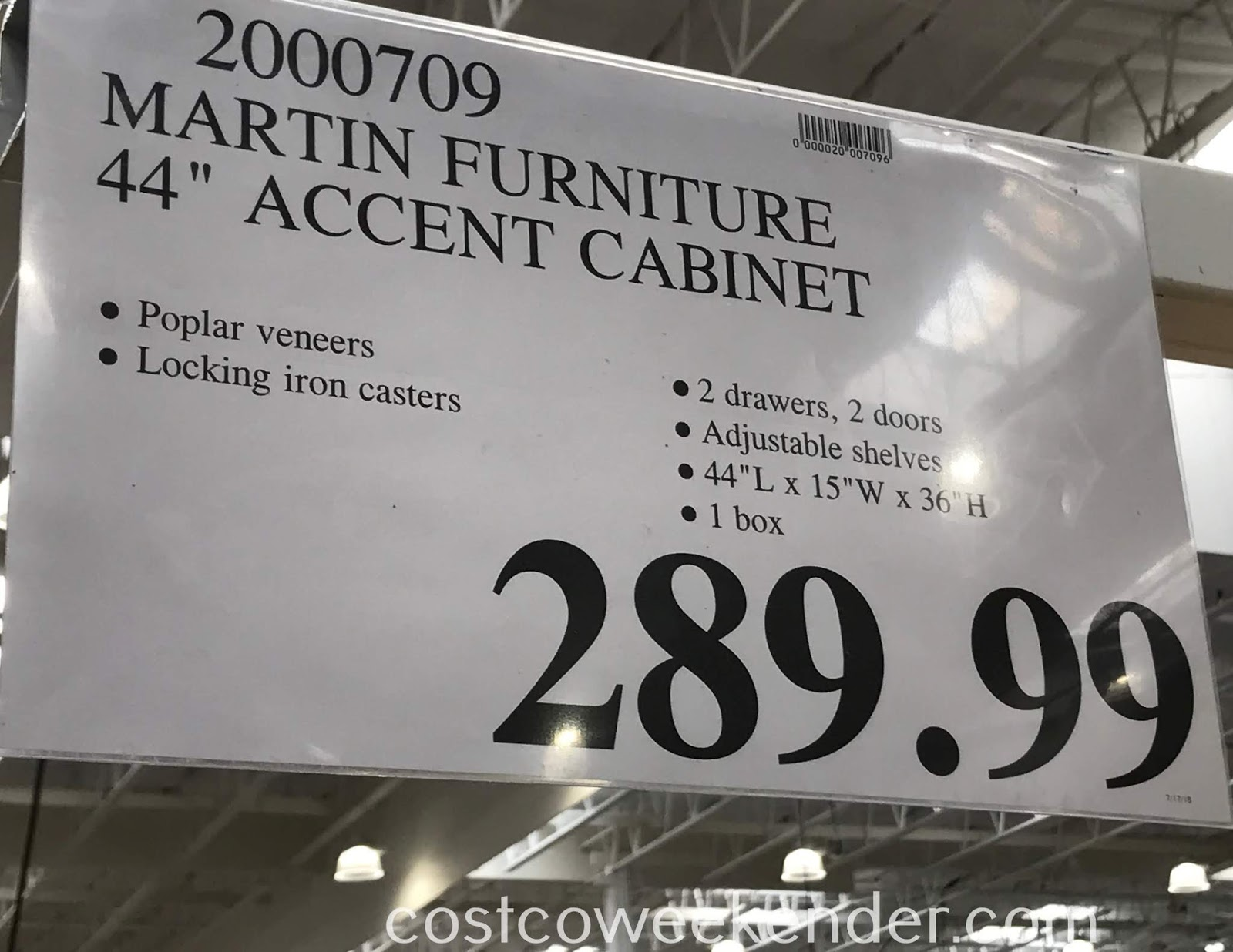 Deal for the Martin Furniture Accent Cabinet at Costco