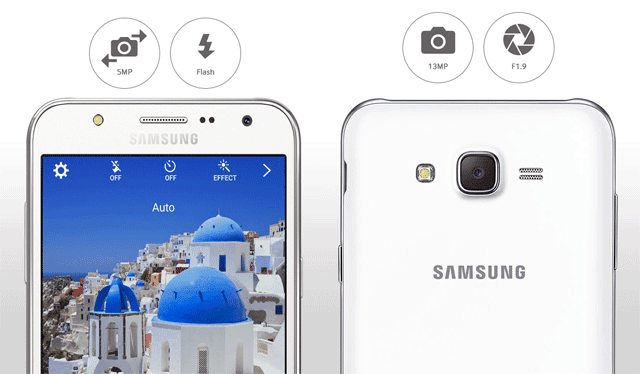 Samsung Galaxy J5 with Front Flash