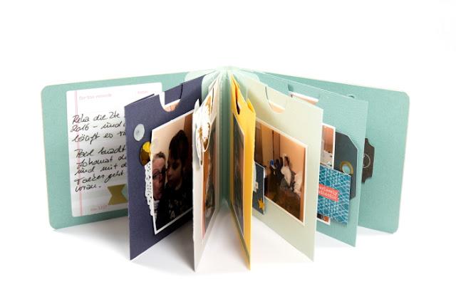 Farbige Seiten Fotoalbum DIY