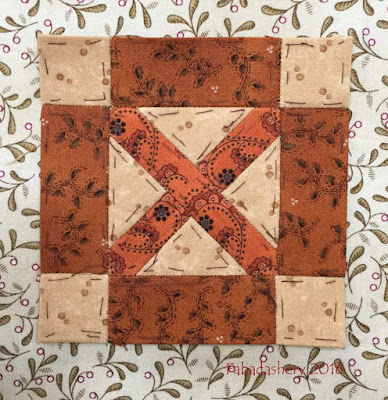 Dear Jane Quilt - Block L8 Box Kite