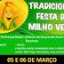 Festa do Milho Verde ocorre neste fim de semana no Centro