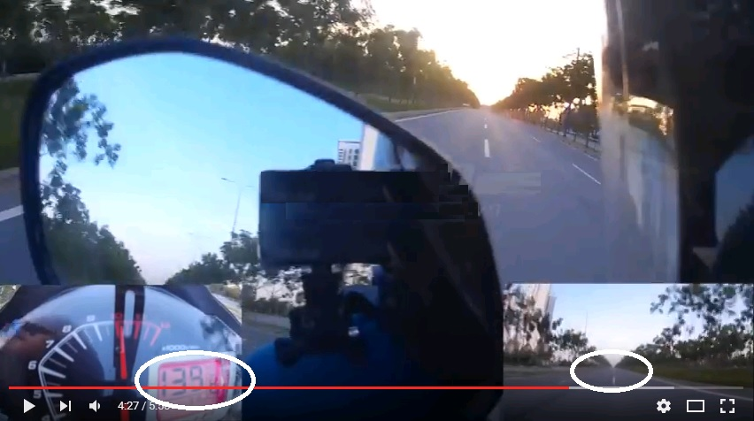 Honda Winner cho Yamaha Exciter hít khói với tốc độ gần 140 km/h?
