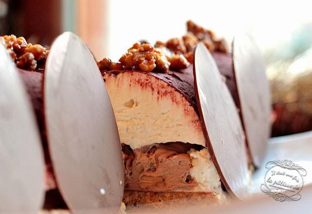 buche vanille chocolat
