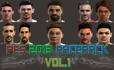 PES 2013 Facepack Vol.1 by ManiaC Army FaceMaker