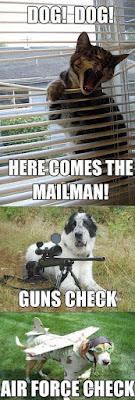 Dog Humor : OK the mailman is coming?