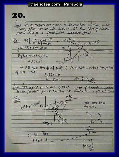 iitjeenotes parabola7