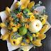 Idea gubahan jambangan buah-buahan segar