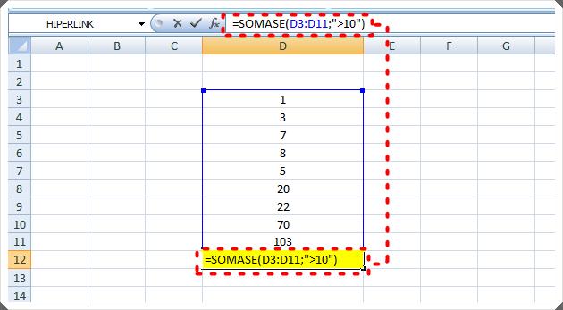 SOMASE Excel