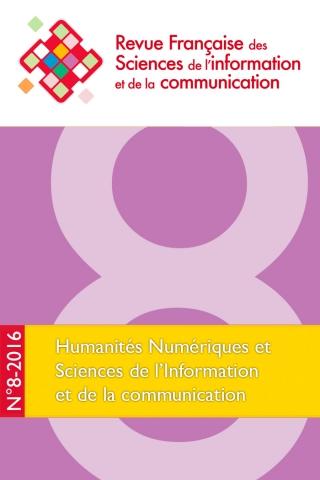 Couverture n°8 RFSIC Humanités numériques et Sciences de l'Information et de la Communication
