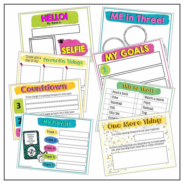 This all about me activity comes from a long list of back to school tips for teachers. In addition to high school classroom decor, you can also find classroom management tips, interactive notebook tips, and first day of school activities!