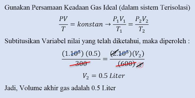 Kumpulan Soal dan Pembahasan Soal Ujian Nasional (UN) Fisika SMA Part 1 - Gas Ideal (Hukum Pertama Termodinamika)