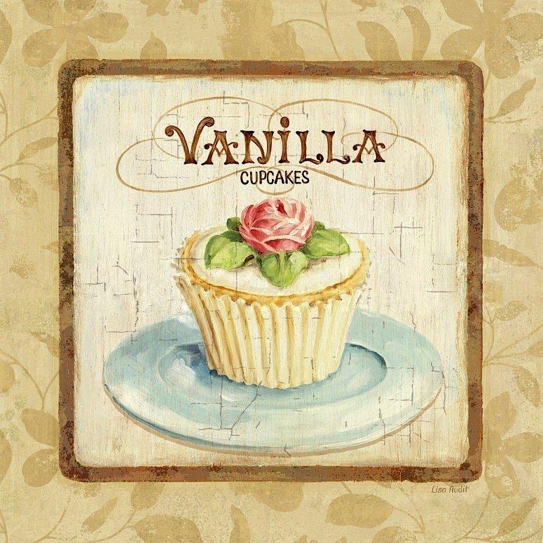 Artesanato e cia cupcakes para quadrinhos ou d coupage - Laminas vintage para cocina ...