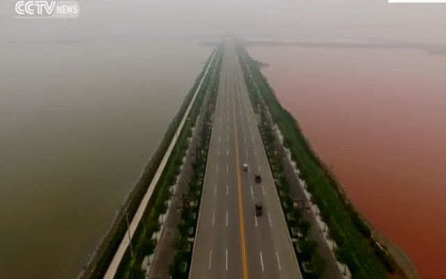 Yuncheng Salt Lake: Η δίχρωμη «Νεκρά Θάλασσα» της Κίνας