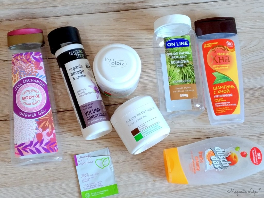 zużycia kosmetyków kwiecień