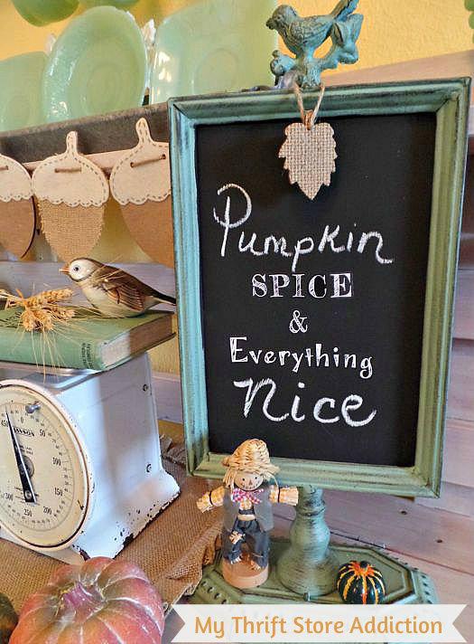 Pumpkin spice...chalkboard