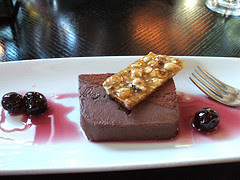 Valhrona Chocolate Terrine with Amarena Cherries and Salted Valhrona Chocolate Ice Cream- Artist Point