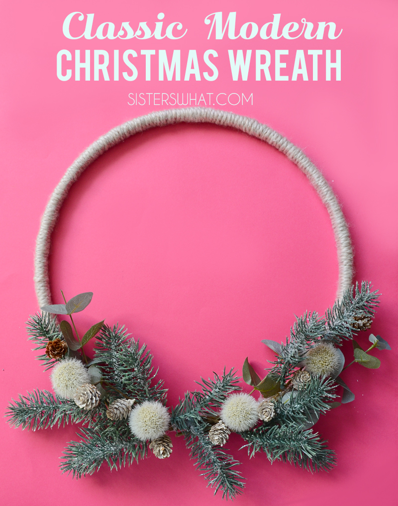 DIY Classic Modern Christmas Wreath