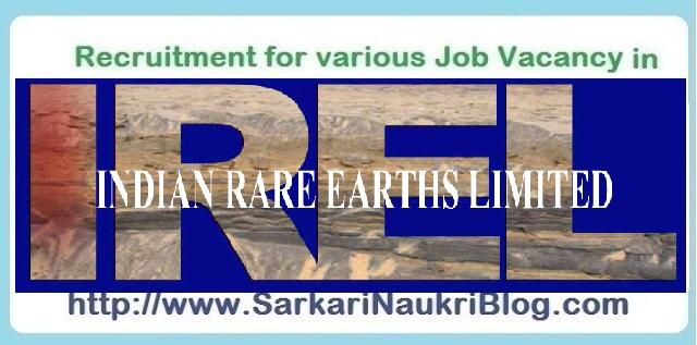 Naukri Vacancy Recruitment IREL
