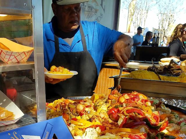 Day trip ao ar livre em Orlando, Florida comida grega