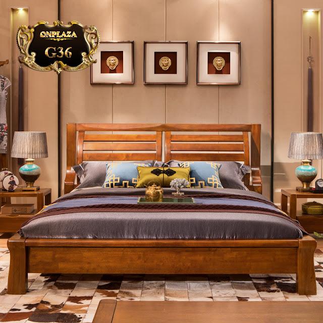 Giường ngủ gỗ sồi có thiết kế đơn giản hiệ đại G36.