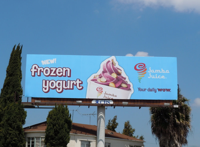 Jamba Juice Frozen Yogurt billboard