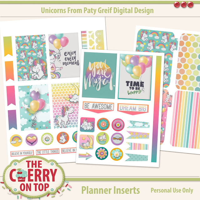 Printable Unicorn Planner Inserts