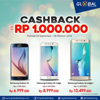 Ponsel Samsung Cashback Hingga Rp 1 Juta di Global Teleshop