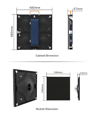 Màn hình led p4 cabinet sử dụng trong nhà và ngoài trời nhập khẩu tại quận 8