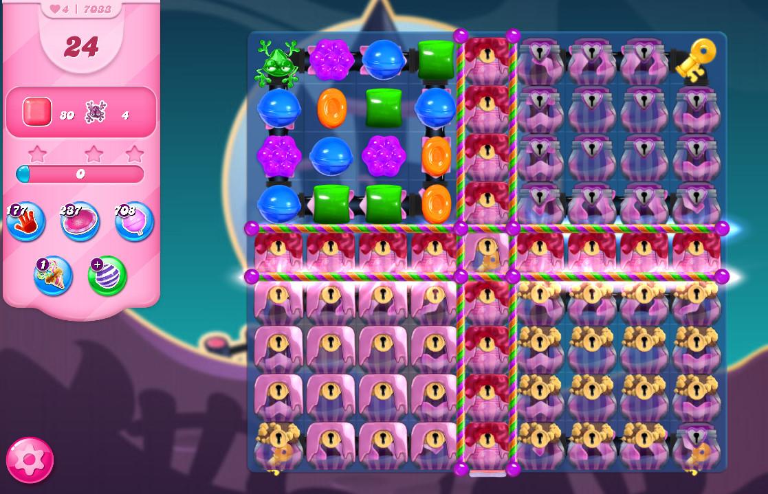 Candy Crush Saga level 7033