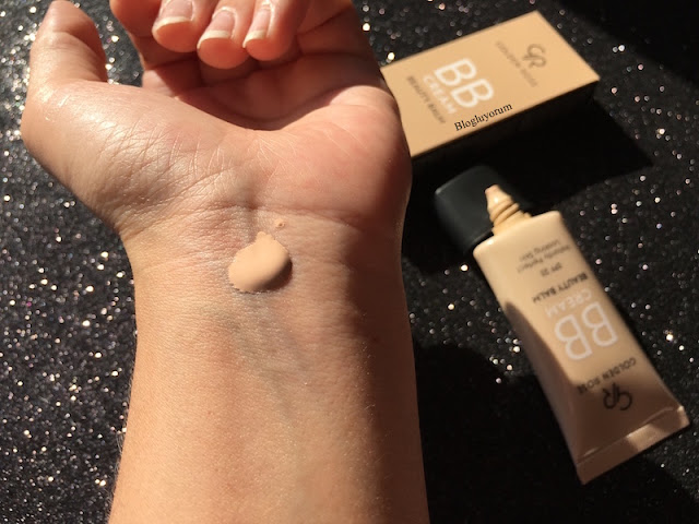 golden rose bb cream beauty balm spf25 bb krem swatch1