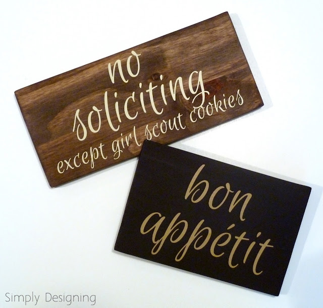 bon appetit sign, no soliciting (except girl scout cookies) sign, #sign #vinyl #homedecor