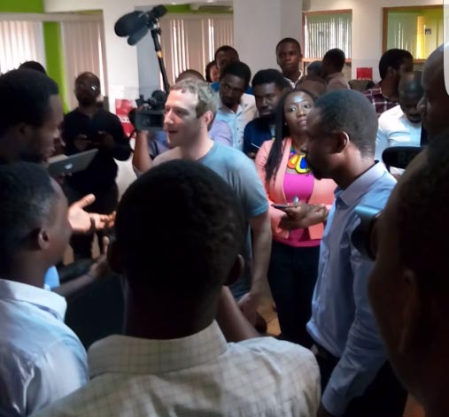 Facebook founder Mark Zuckerberg arrives Lagos, Nigeria