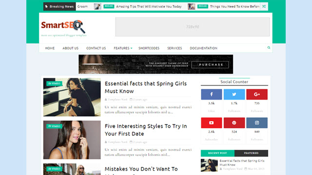 Smart Seo Blogger template new